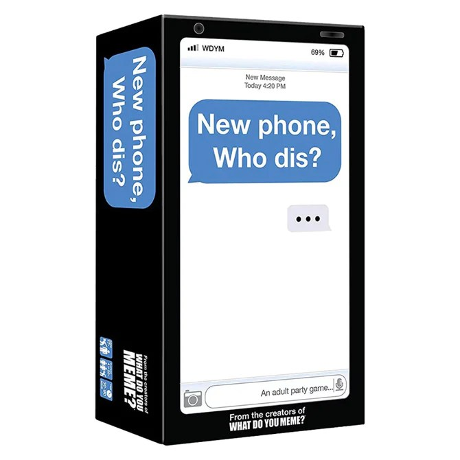 New Phone Who Dis Card Game Party Game