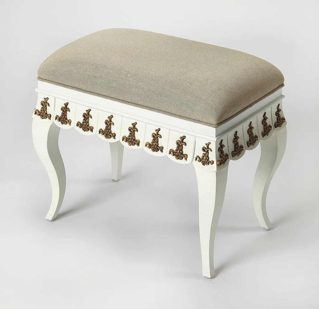 Gold Vanity Chair Butler Linor White And Gold Vanity Stool The Rustic