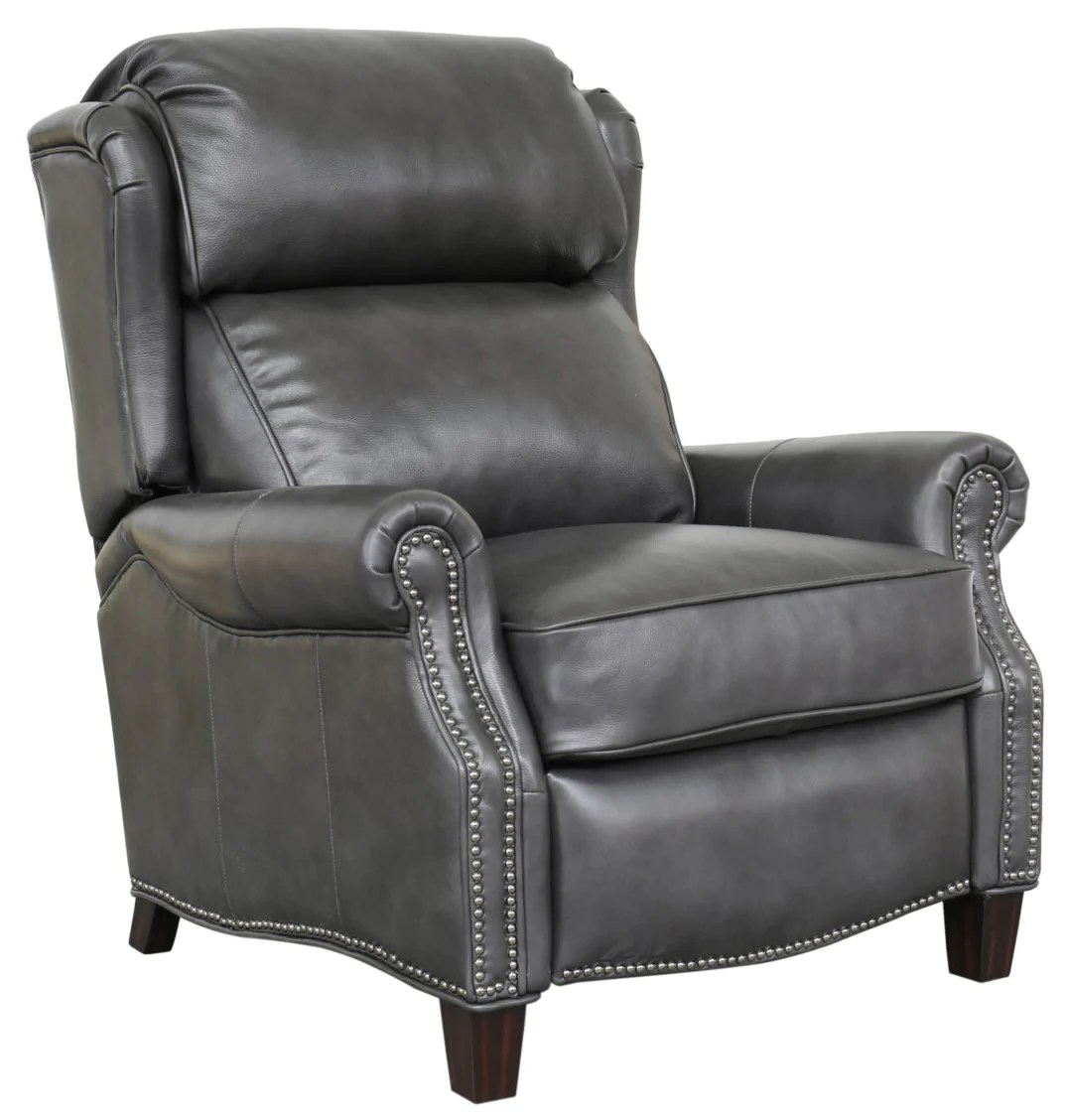 Wingback Recliner Chair Meade Small Scale Wing Back Leather Recliner