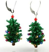 Christmas Tree Earring Bead Weaving Kit  Beads Gone Wild