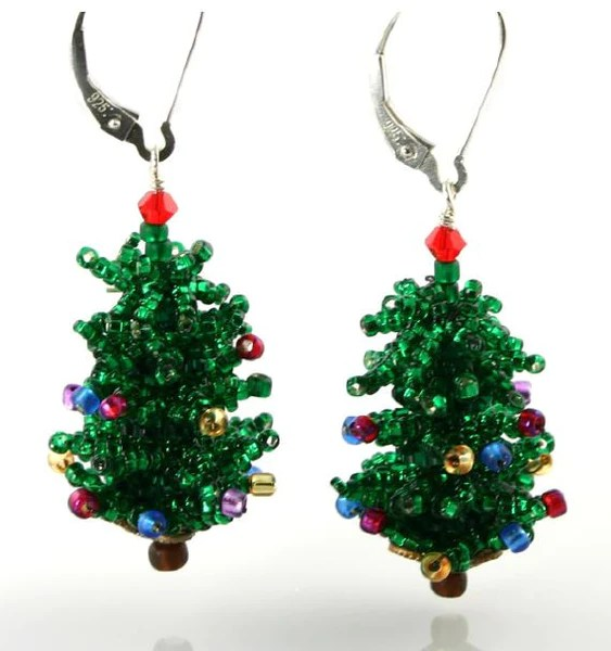 Christmas Tree Earring Bead Weaving Kit Beads Gone Wild