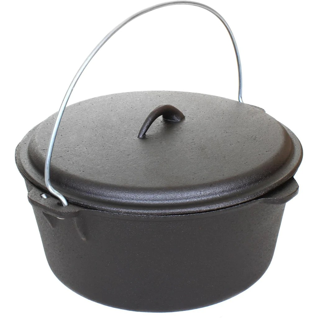 Cajun Classic Seasoned Cast Iron Dutch Oven Pot - 9 Quart Bayou Depot