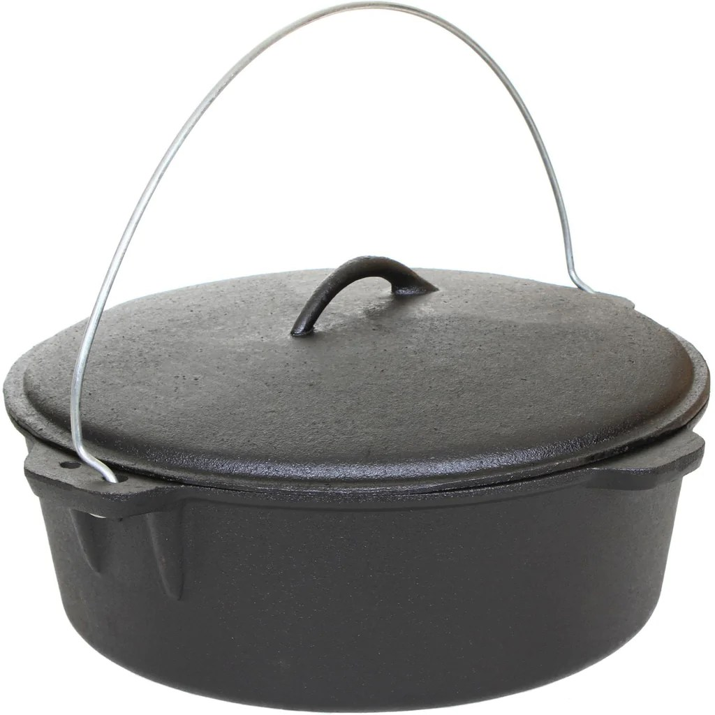 Cajun Classic Seasoned Cast Iron Dutch Oven Pot - 12 Quart Bayou Depot