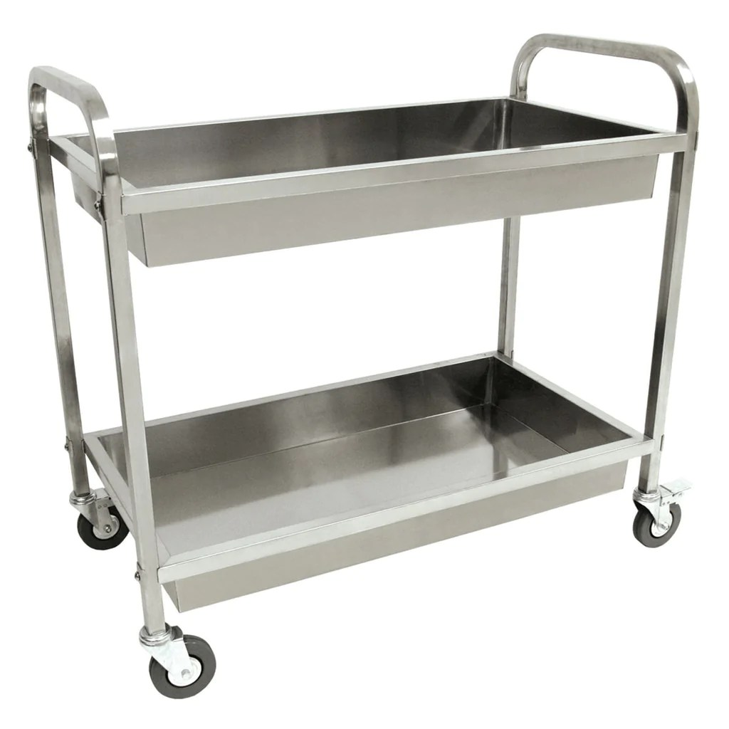 stainless steel carts kitchen lighting over island bayou classic cart 4873
