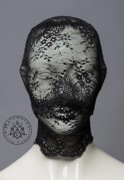 Full face lace mask  Pseudo blindfold lace hood