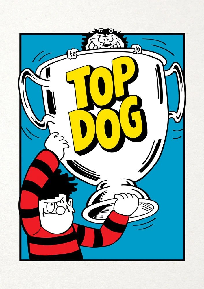 Top Dog Trophy Dennis The Menace Birthday Card Paper Tiger
