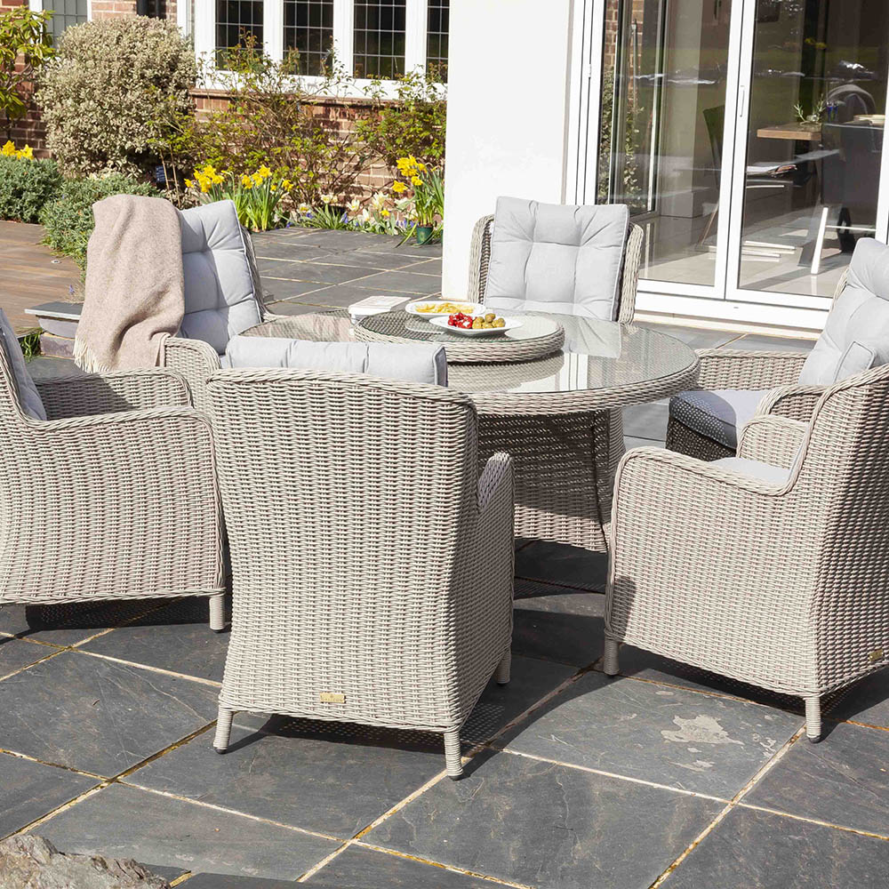 Outdoor Chair Set Astor 6 Seat Round Dining Set