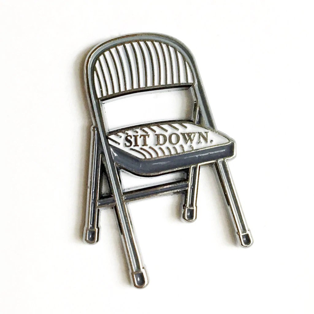 Soft Folding Chairs Sit Down Folding Chair Pin