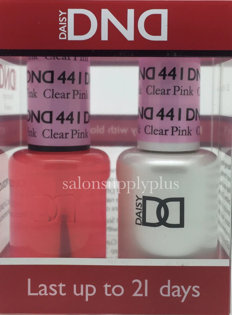 441 - dnd duo gel clear pink