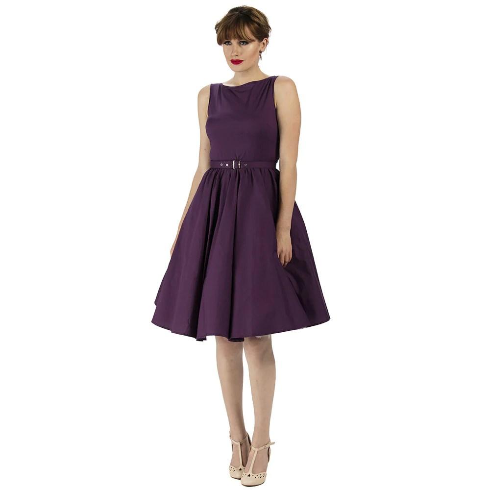 Audrey Hepburn Purple Dress