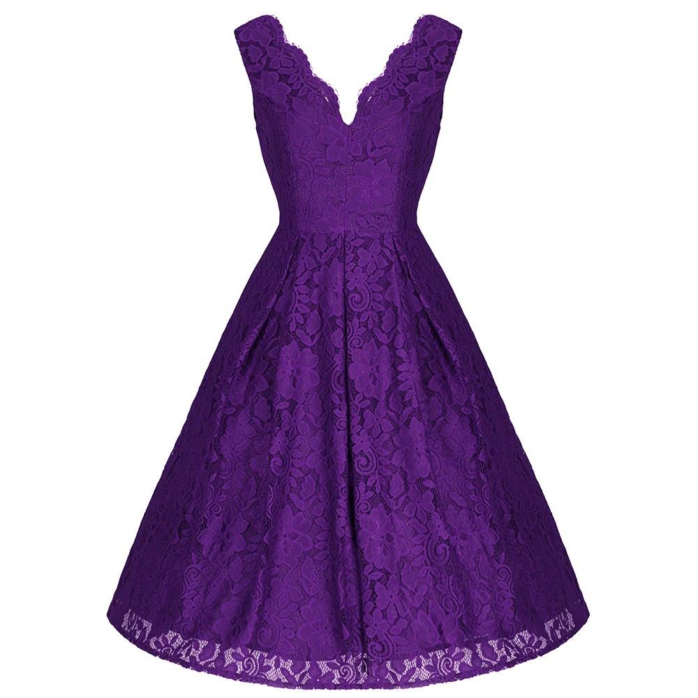 Vintage 50s Purple Prom Dresses