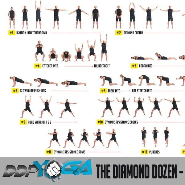Diamond Dozen Poster   DDP Yoga
