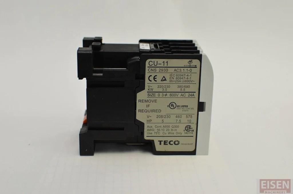 24v Transformer Wiring Diagram Teco Cu 11 Magnetic Contactor 24v Coil 3a1a Normally