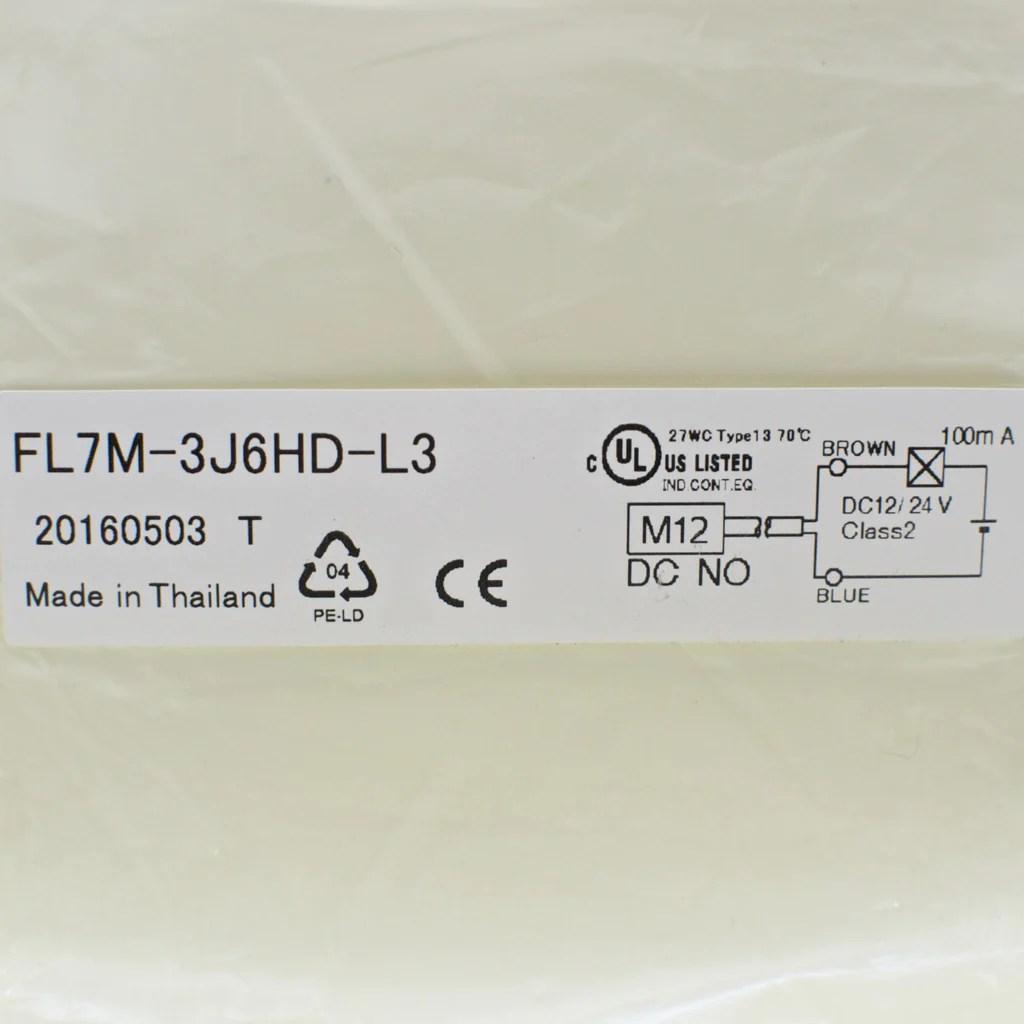 small resolution of  azbil fl7m 3j6hd l3 proximity sensor dc 2 wire m12