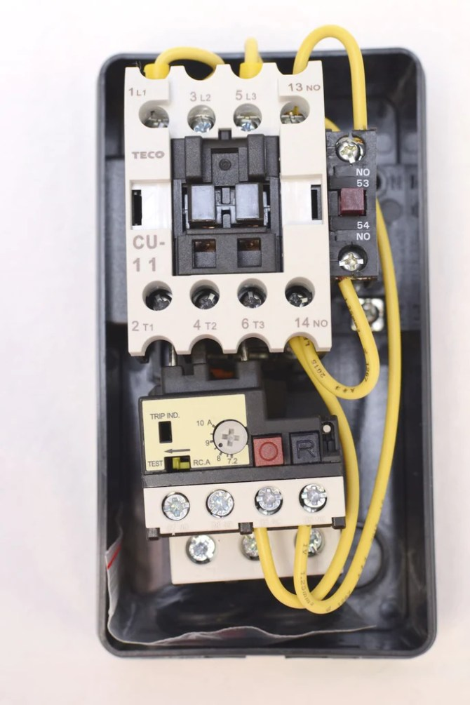 teco hueb11k start/stop enclosed motor starter 220vac 3ph 7210a