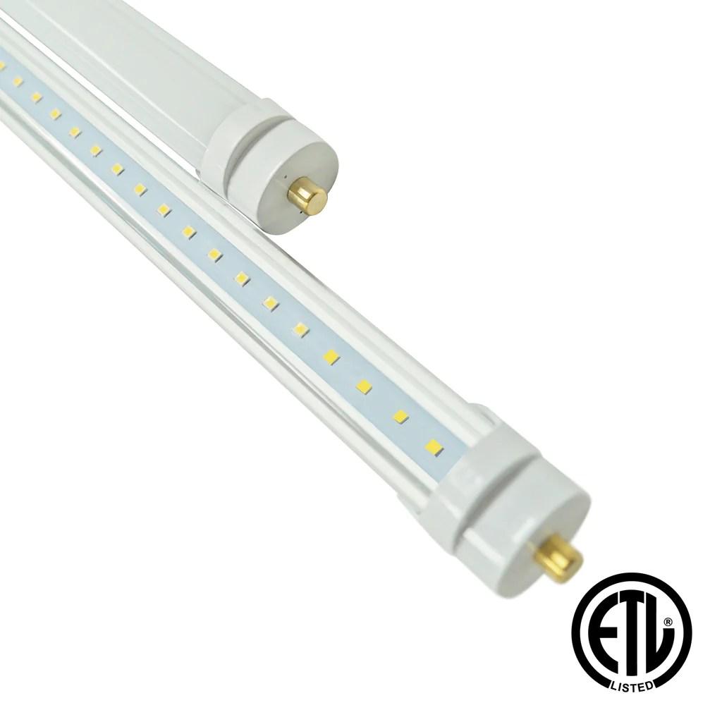 hight resolution of 8ft 36w led linear tube fa8 socket bypass etl