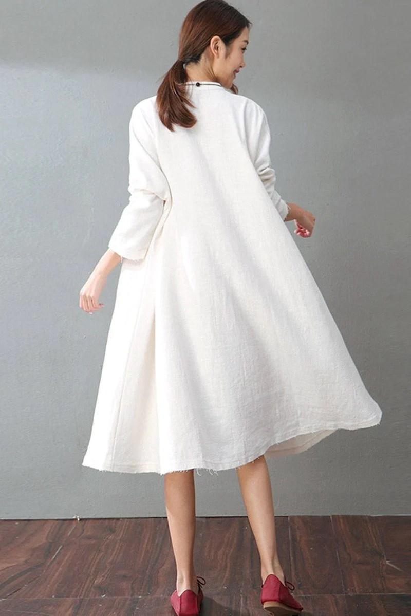 White Long Sleeve Dress Shirt Women