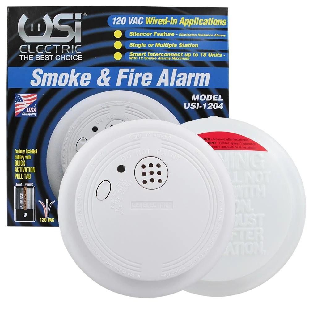 click to enlarge home usi electric smoke detector  [ 1000 x 1000 Pixel ]