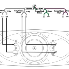 Dual Car Radio Wiring Diagram 2002 Ford Transit Stereo Your Retrosound Using Only One Speaker Output From The To Wire In Series
