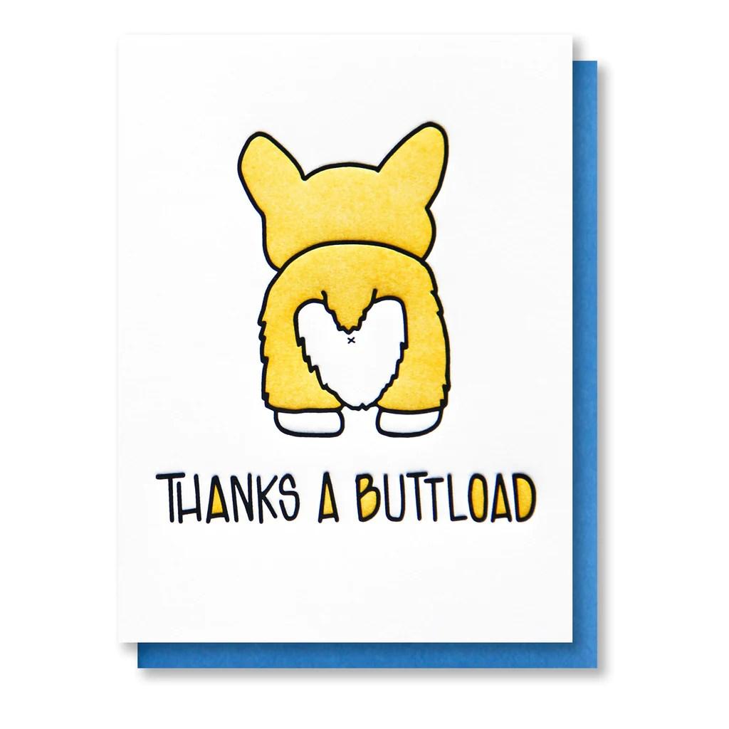 thanks a buttload corgi