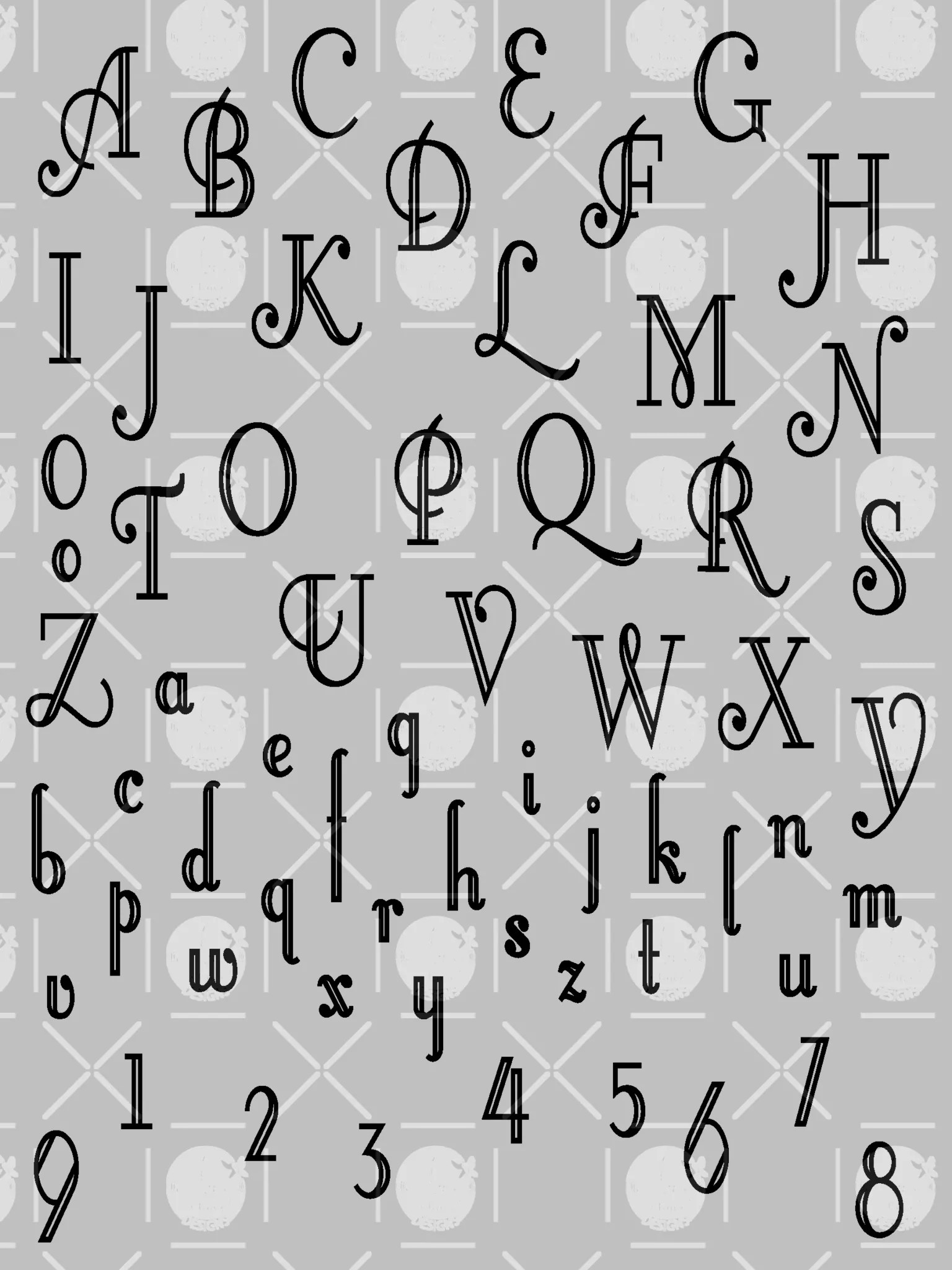 Fancy Letters And Numbers : fancy, letters, numbers, Fancy, Letters