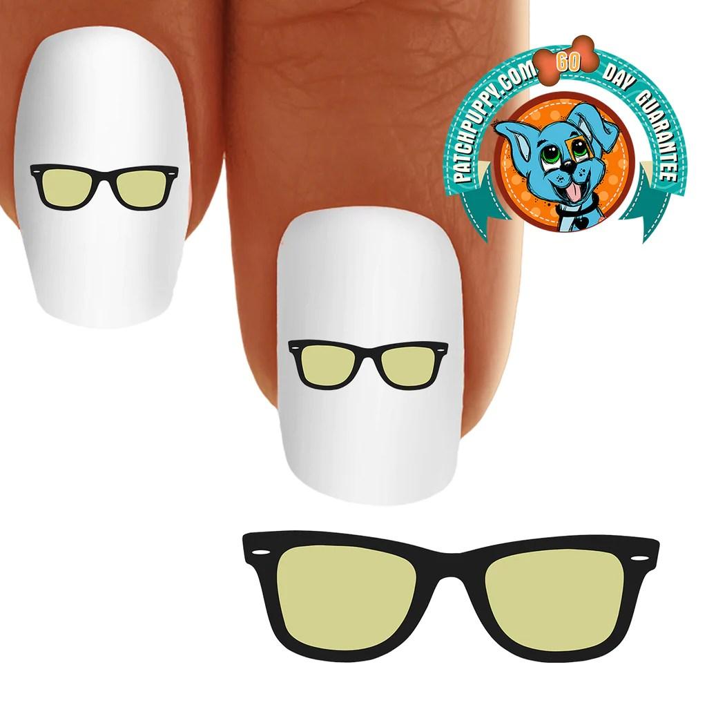 sun glasses nail art decals