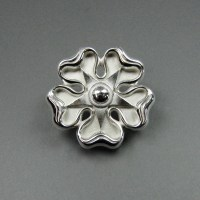 Jacobite Rose Brooch  stling Jewelry Design