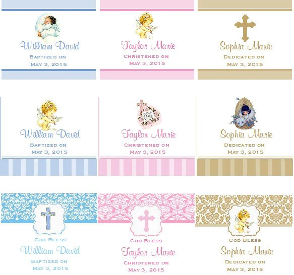 Baptism Christening Gifts Photo Lip Balm Favors  Pavia Party Favors