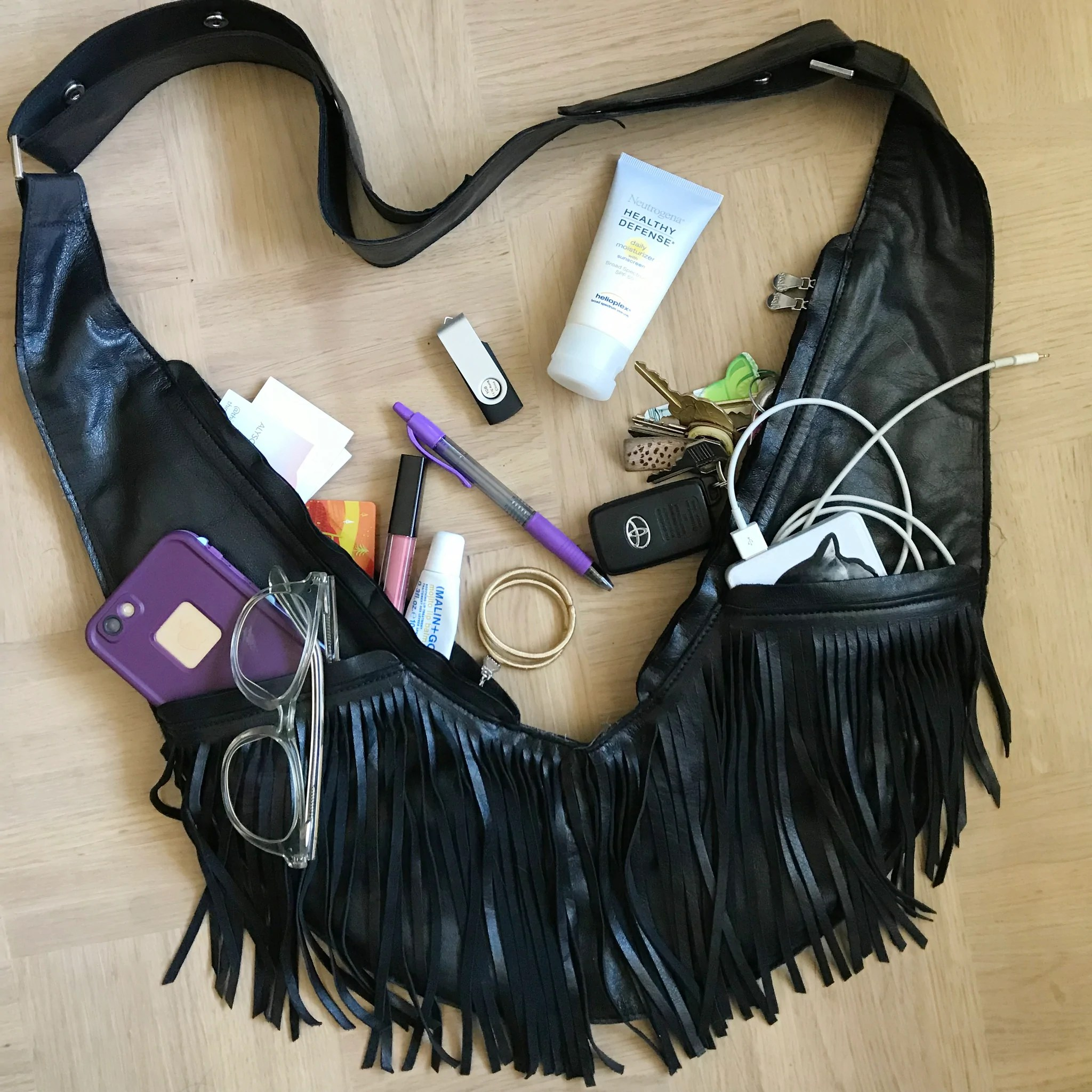 small resolution of black fringe leather