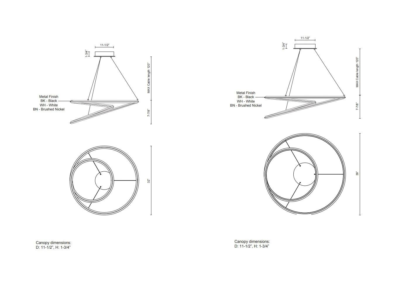 hight resolution of  ampersand chandelier diagram
