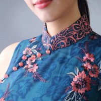 #QIPAO #旗袍 #Cheongsam | #YiMingOriental | #NewIn- the Qipao Autumn wintery collection 2019….featuring innovating contemporary -long mid length with Chinese imperial porcelain Autumns Wintery bold pastel lacy  hues lacy…..