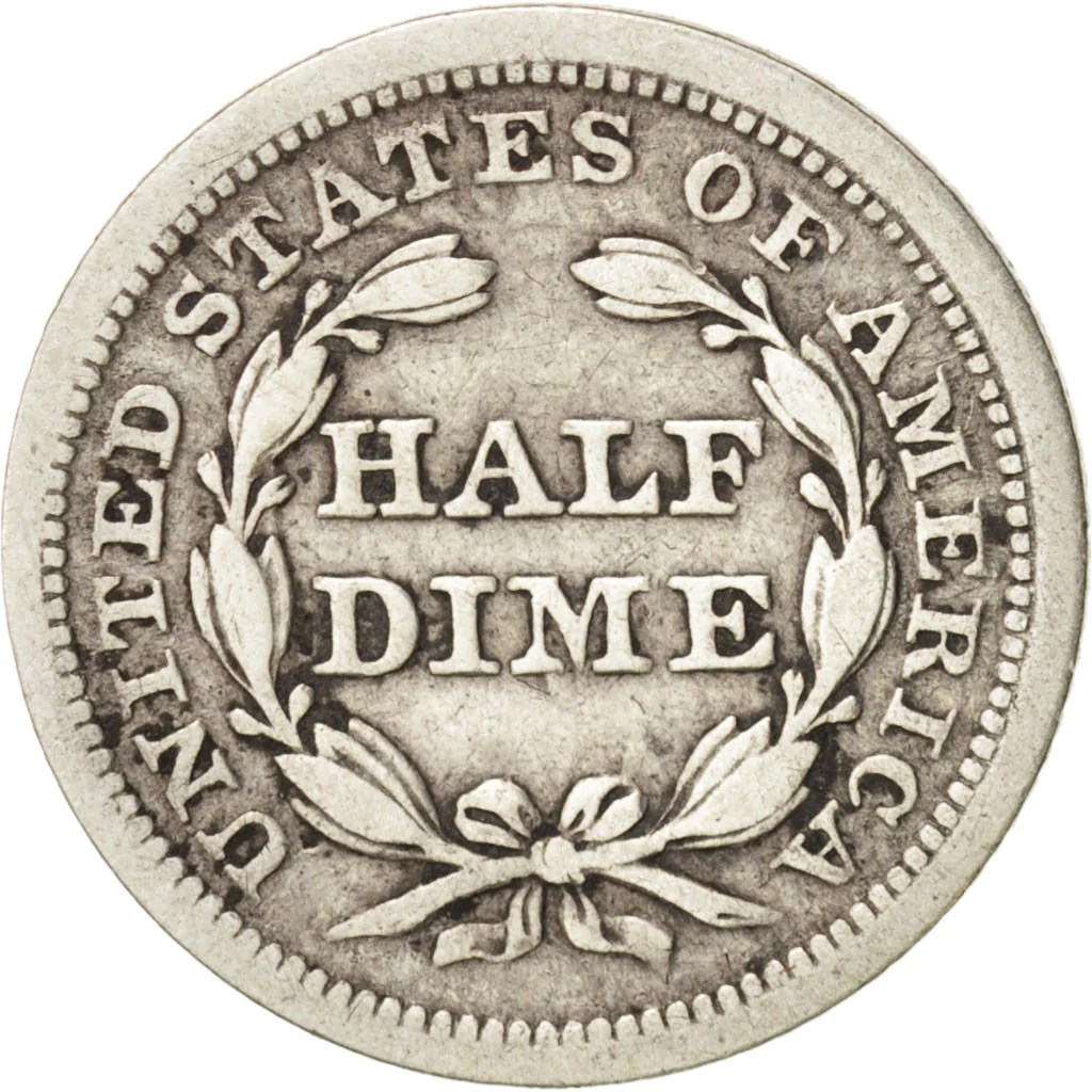 #48634 United States Seated Liberty Dime 1854
