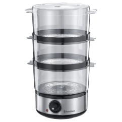 Steamer Kitchen Inexpensive Flooring Options For Russell Hobbs 14453 Collection Compact 3 Tier W