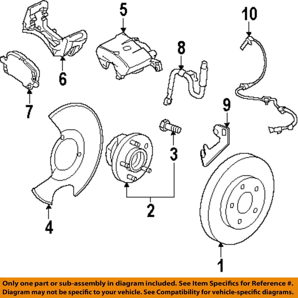 small resolution of front brake pad kit 13237753 2010 2011 saab 9 5