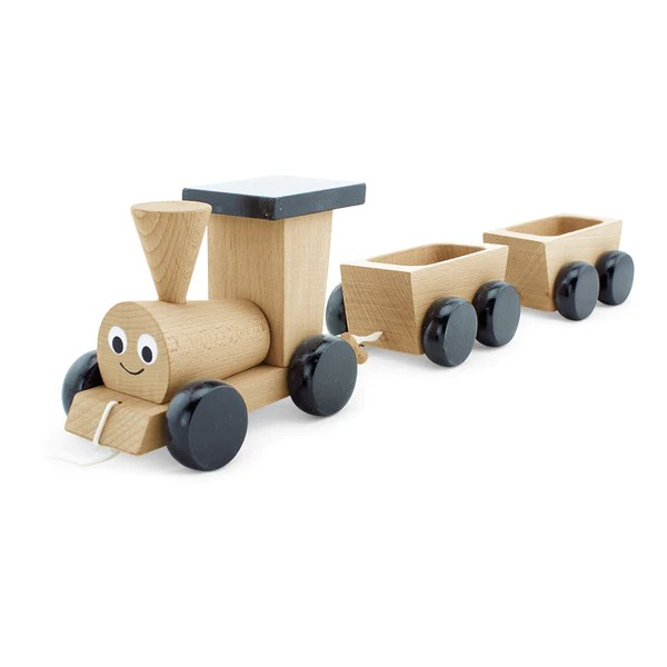 Pull Along Wooden Toy Train Set Wooden Toys Aus Happy