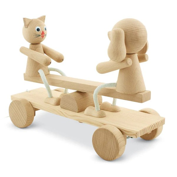 Wooden Pull Along See Saw Toy Unique Pull Along Toys
