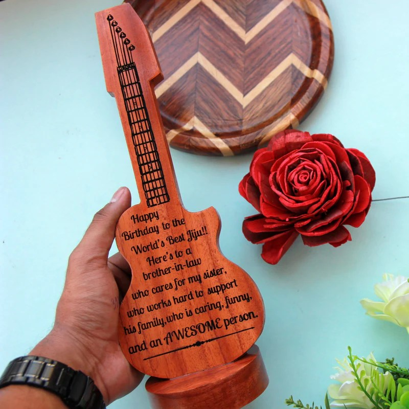 Custom Wooden Guitar Award Gifts For Musicians Best