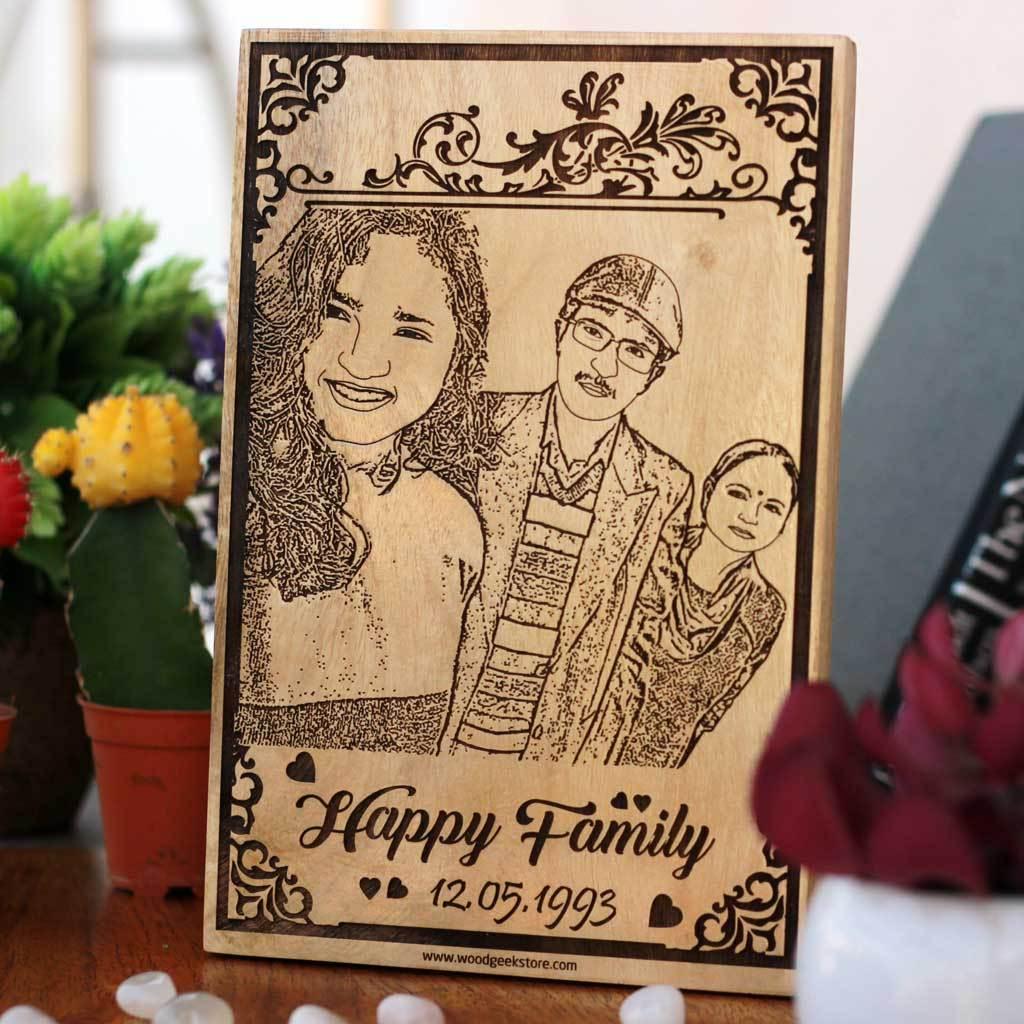 custom engraved wooden frame