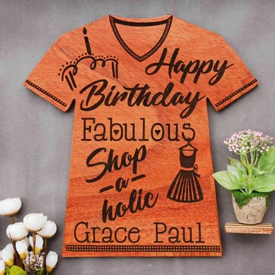 Happy Birthday Fabulous Shop A Holic Wooden Plaque