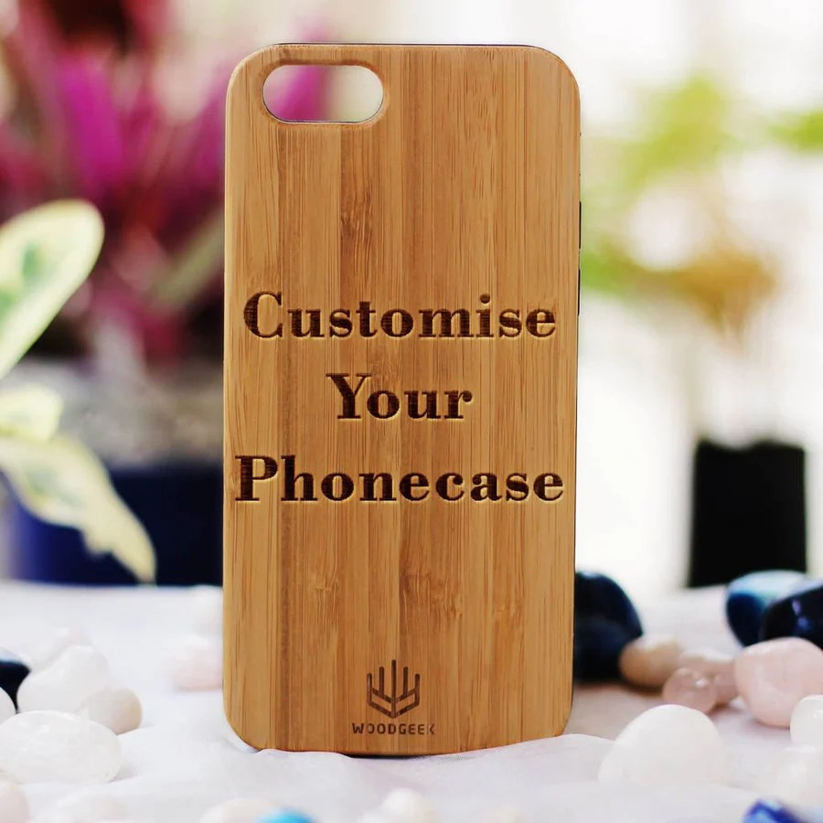personalized wooden phone cases