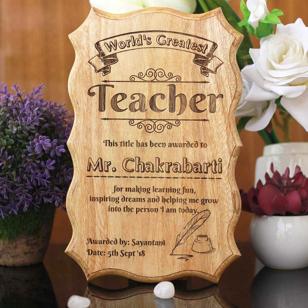 Personalized World S Greatest Teacher Certificate Teacher