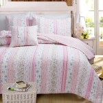 Shabby Chic Pink Lace Bedding Twin Full Queen King Ruffled Striped Qui Kidsroomtreasures Com