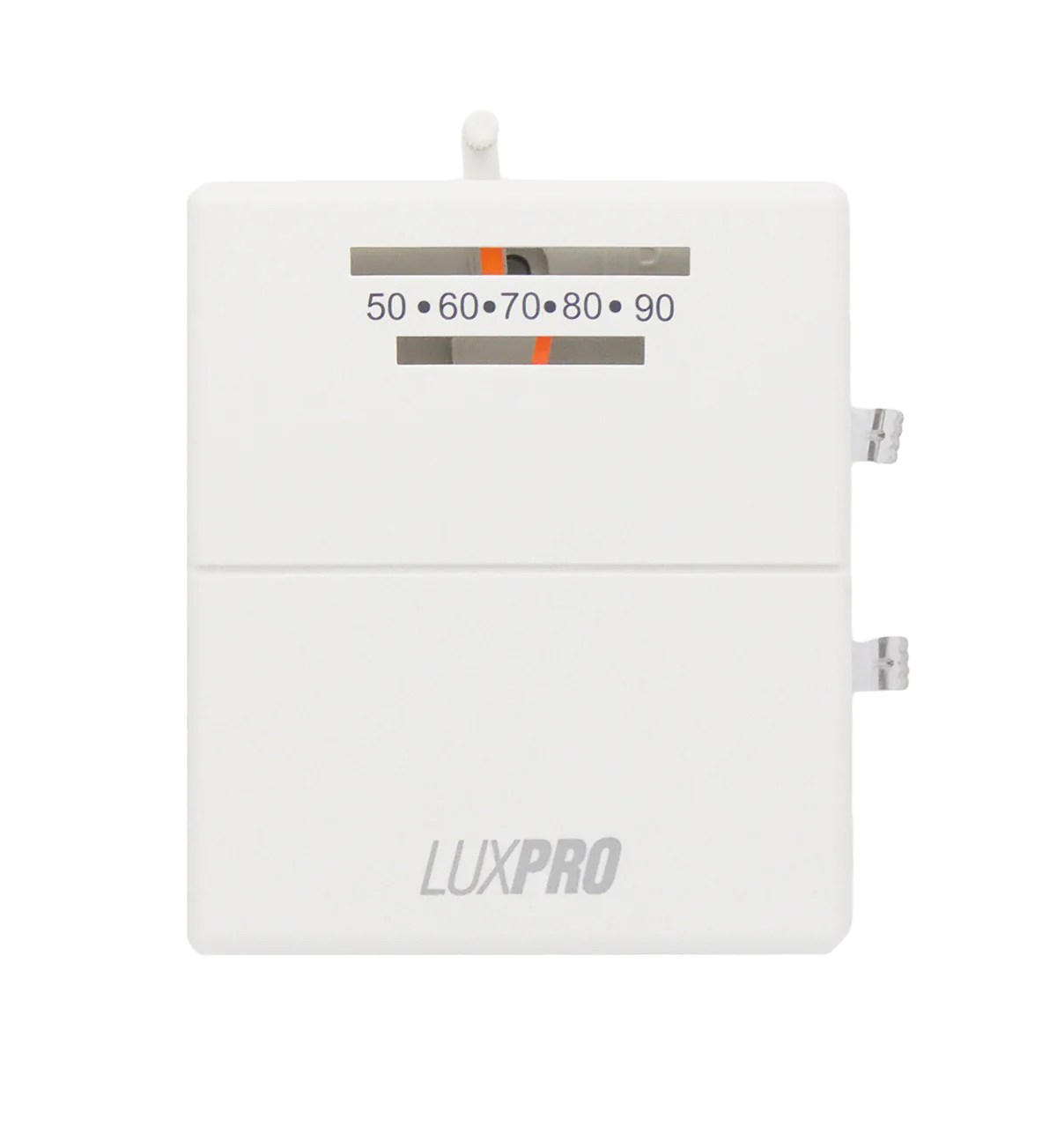 hight resolution of luxpro psm40sa mechanical snap action 2 wire heat only thermostat