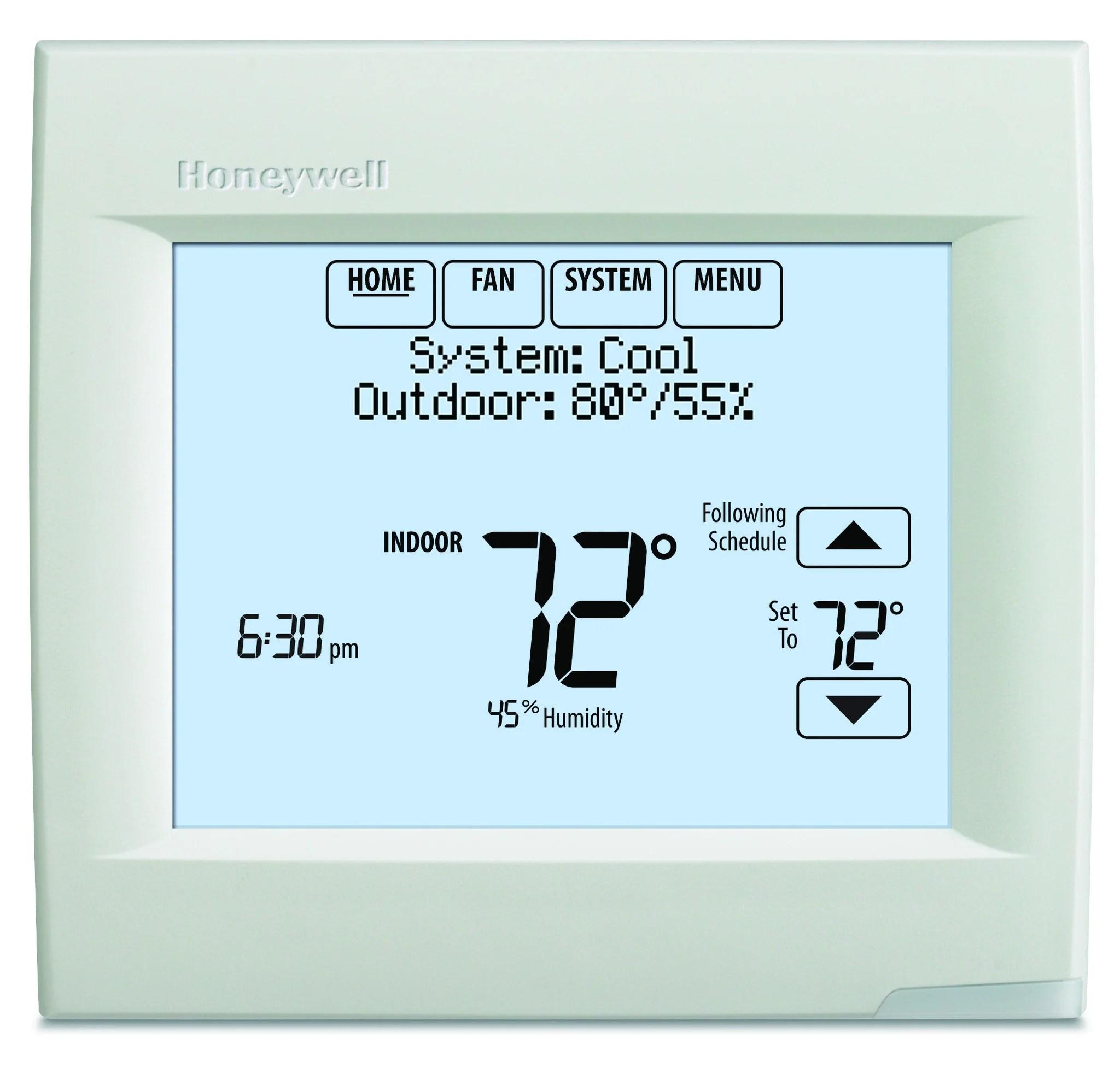 medium resolution of honeywell th8321r1001 visionpro 8000 w redlink iaq contacts honeywell 8000 line volt pro thermostat wiring honeywell corporation