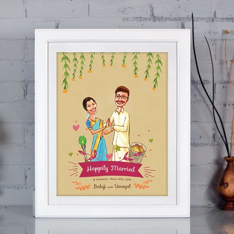 Illustrated  Caricature Wedding Invitation  SPORG Stores