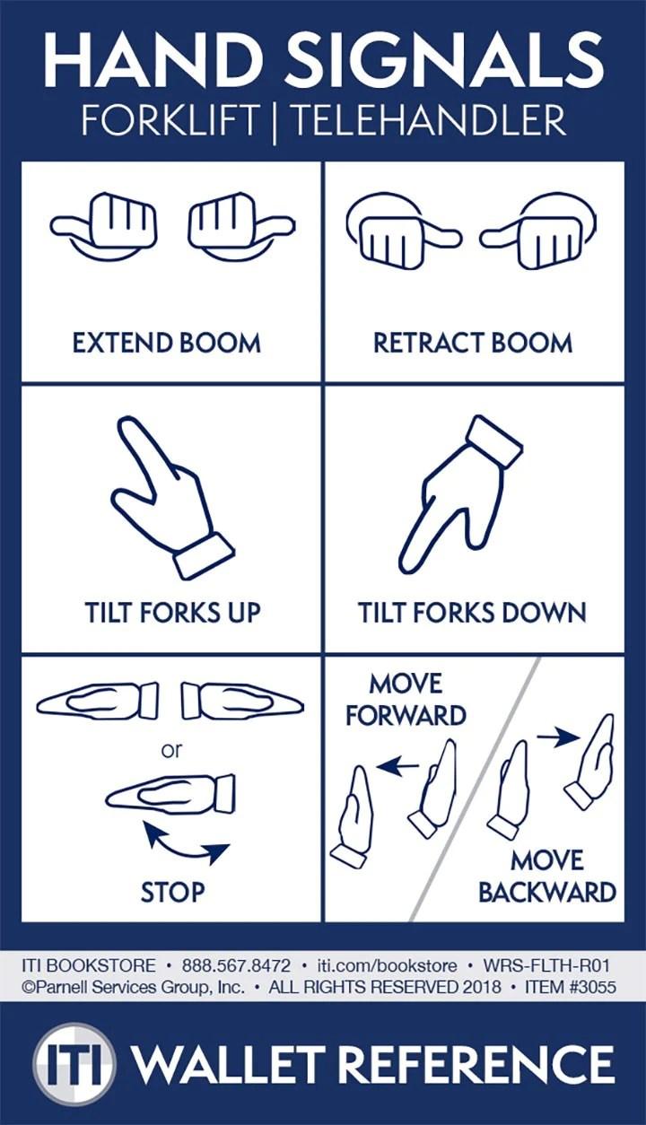 forklift telehandler hand signals
