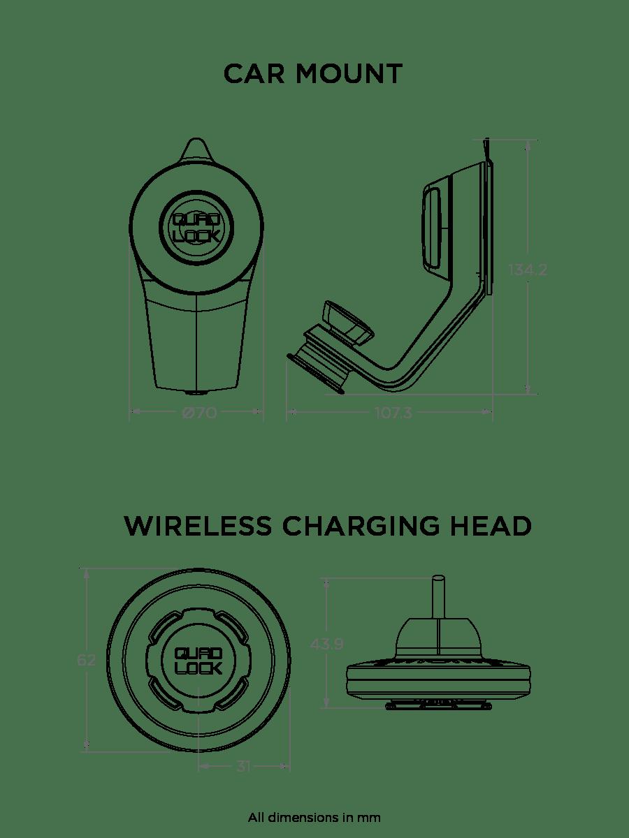 medium resolution of  car mount compatible with quad lock cases