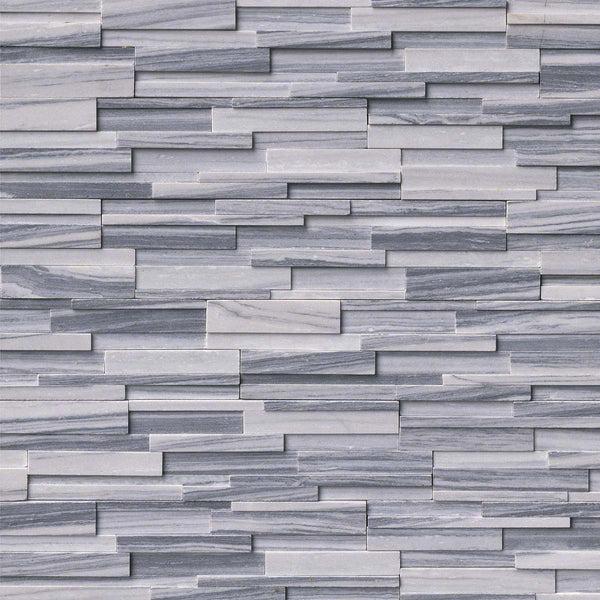 Alaska Grey 3D Honed LedgerStacked Stone Panels  Sognare
