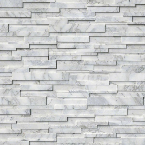 calacatta cressa snow 3d honed ledger stacked stone panels sognare tile stone sognare kitchen bath