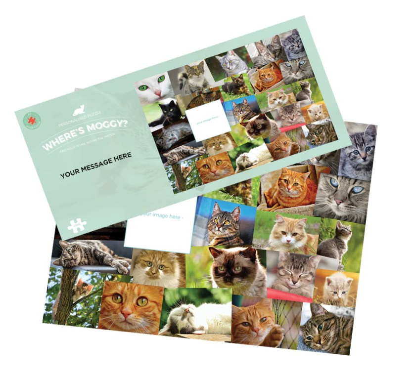 NEW! Where's Moggy? Personalised 1000 Piece Jigsaw Puzzle